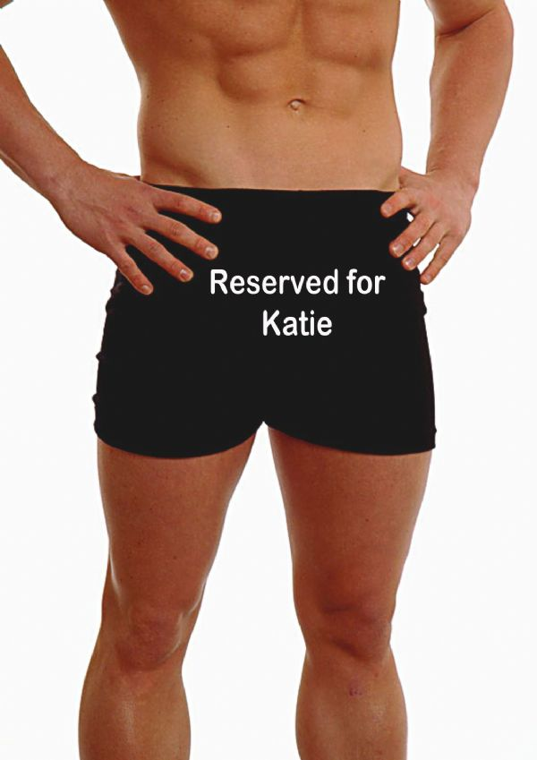 PERSONALISED MENS HIPSTER BOXER SHORTS - EMBROIDERED - ANY MESSAGE ALL THIS BELONGS TO